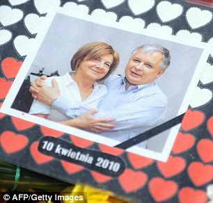 Лех Качиньский и его жена Мария