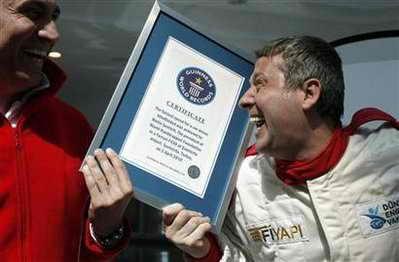 Книга рекордов Гиннеса: Метин Шентюрк (Metin Senturk) - самый быстрый в мире слепой гонщик