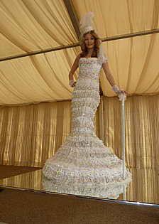Свадебное платье с кристаллами