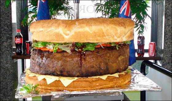 самый большой в мире гамбургер: