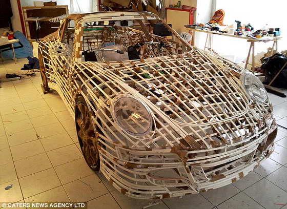 Креативный Porsche в процессе создания