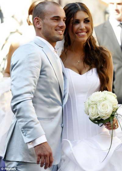 Свадьба футболиста Уэсли Снайдера и ведущей Иоланты