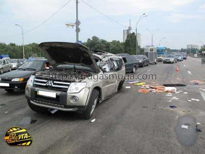 Авария на Волоколамском шоссе в Москве 25.07.17 видео очевидцев