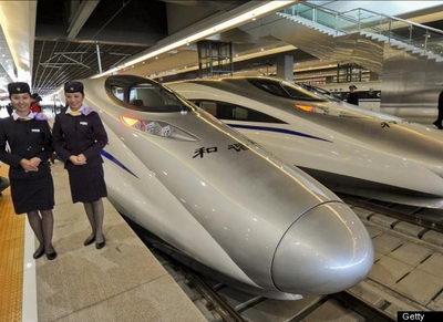 Скоростной китайский поезд