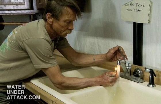 Отравленная вода сланцевым газом