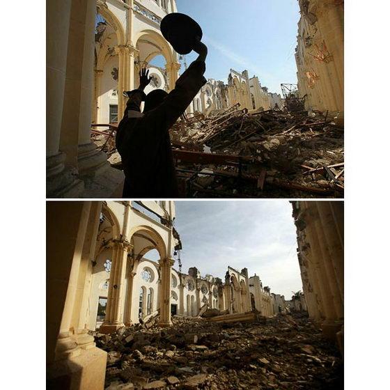 Гаити до и после землетрясения