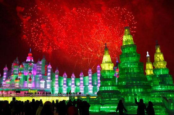 В Харбине, Китай, открылся 27-ой международный фестиваль льда и снега