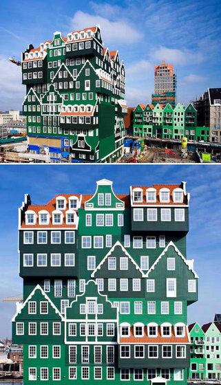 Отель в виде домов