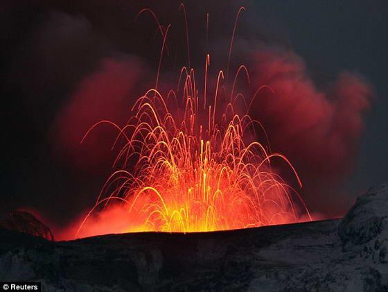 вулкан в Йеллоустонском национальном парке
