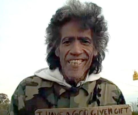 Бездомный американец Тэд Уильямс