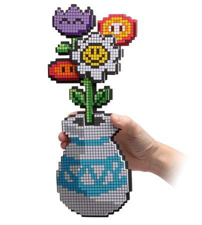 восьми битный букет цветов
