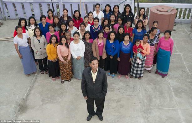Зион Чан - глава самой большой семьи в мире