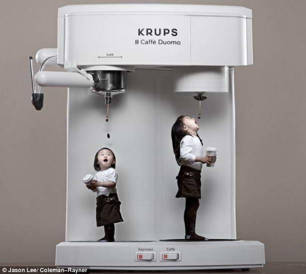 дети в кофеварке