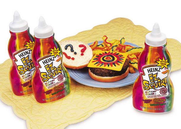 Разноцветный кетчуп Хайнц