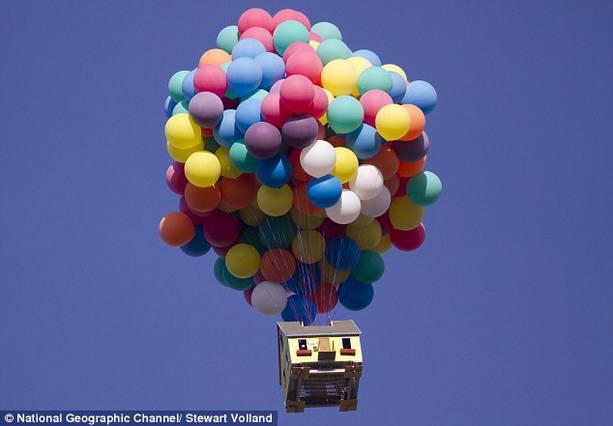 дом на воздушных шариках