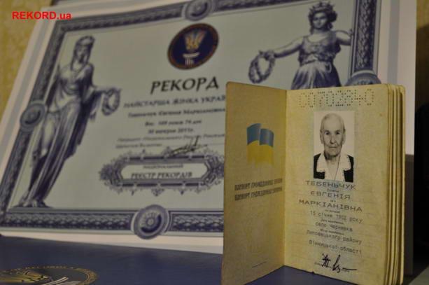 Самая пожилая жительница Украины проживает в Киеве