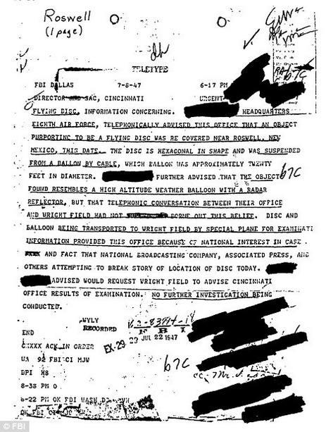 документ об инопланетянах