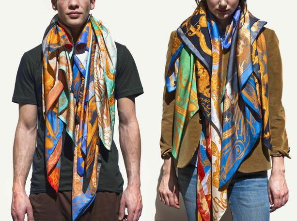 шелковые шарфы Канье Уэст