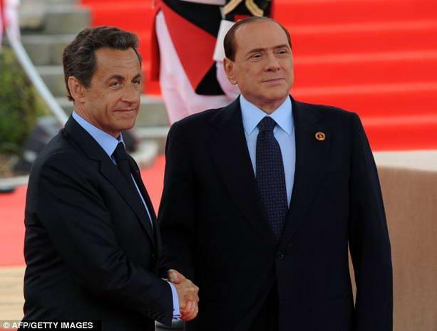 Николя Саркози и Сильвио Берлускони