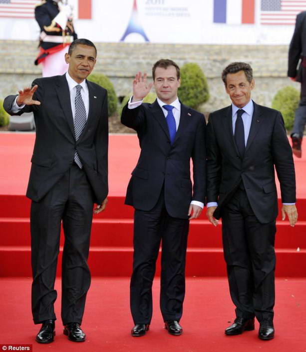 Барак Обама, Дмитрий Медведев, Николя Саркози