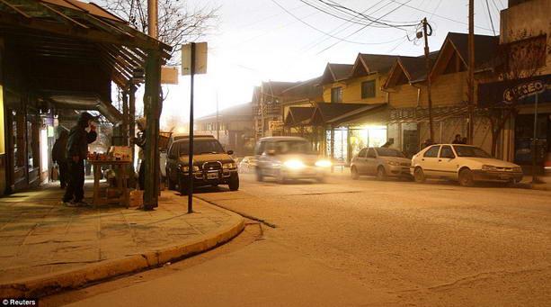 Пепел в Чили