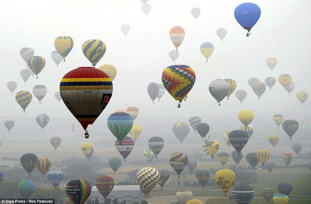 Установлен рекорд по одновременному запуску воздушных шаров