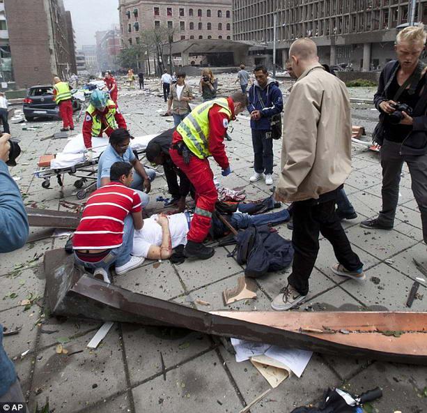взрыв в Норвегии