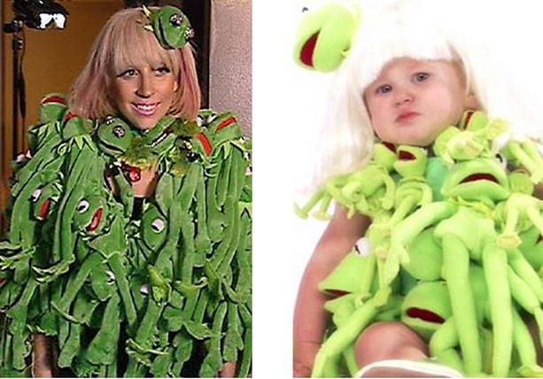 наряд Леди Гага лягушки
