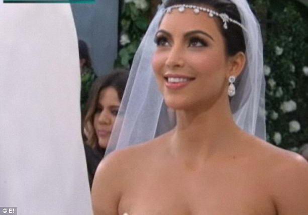 фотографии со свадьбы Ким Кардашян