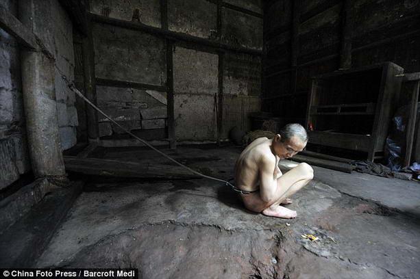 психически больной китаец