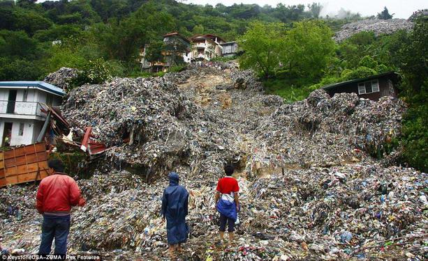 мусорный оползень