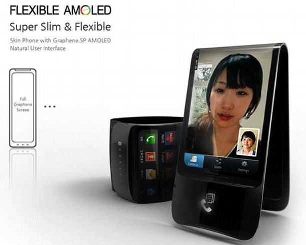 гибкий телефон Galaxy Skin