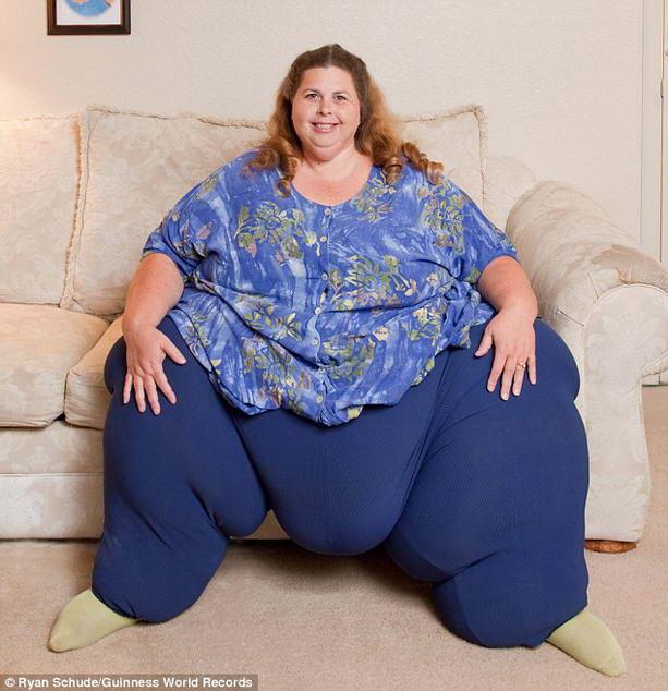 Самая толстая в мире женщина Полин Поттер винит гены в своем весе