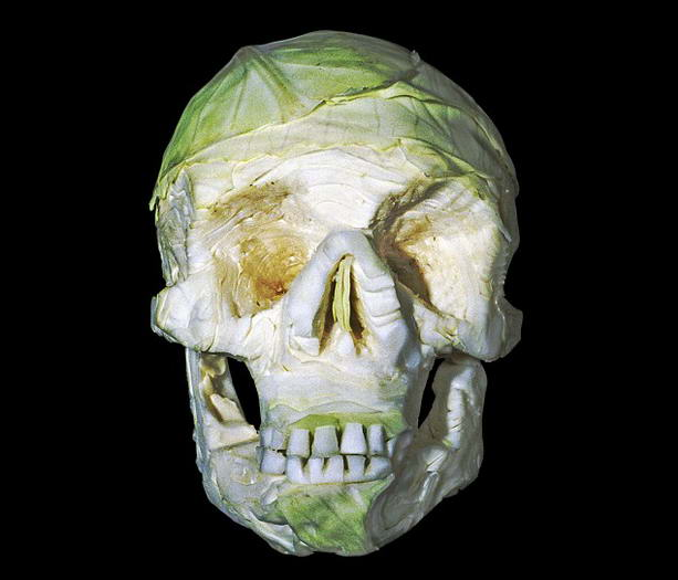 череп из капусты