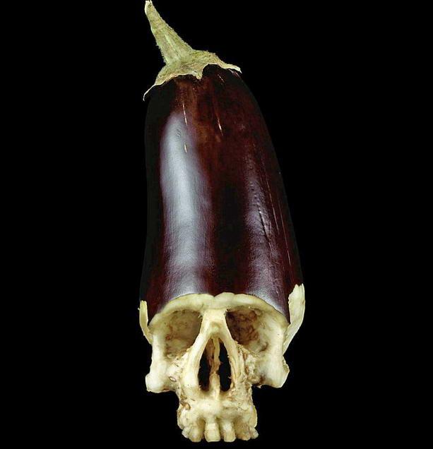 череп из баклажана