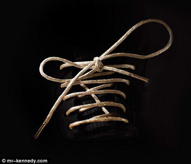 Самые дорогие в мире шнурки из золота