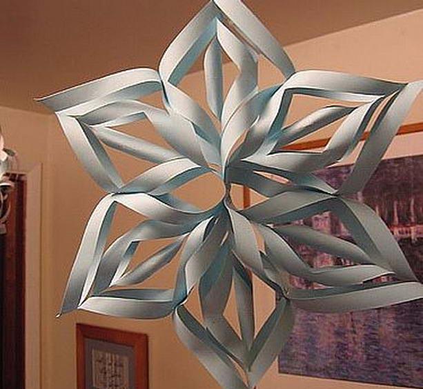 Как сделать 3d снежинки из бумаги