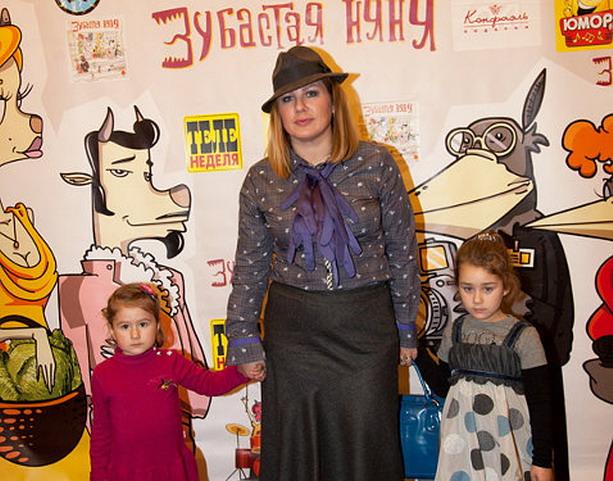 Ева Польна с детьми