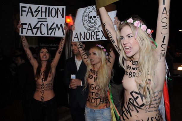 обнаженные девушки FEMEN
