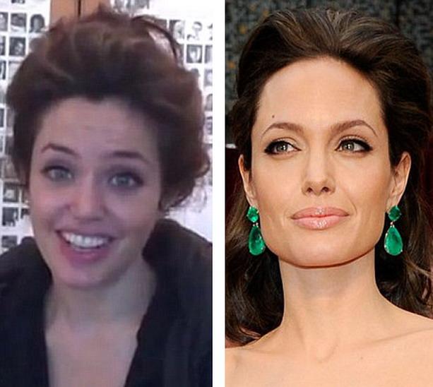 Русская актриса похожа на анжелину