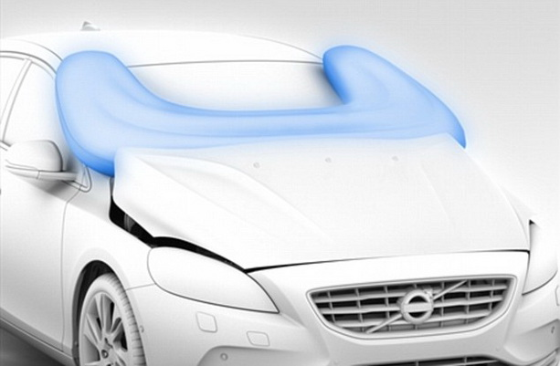Volvo безопасный для пешеходов автомобиль