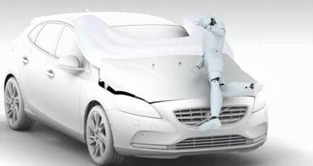 безопасный для пешеходов автомобиль Volvo