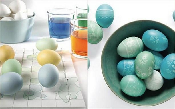 покрасить пасхальные яйца