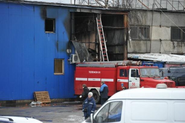 пожар строительный рынок