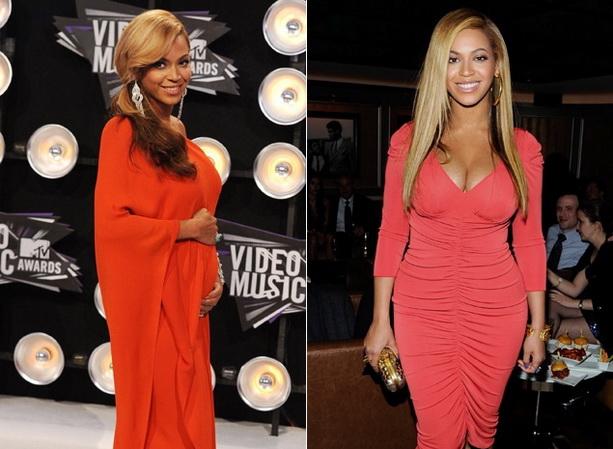 Бейонсе до и после родов