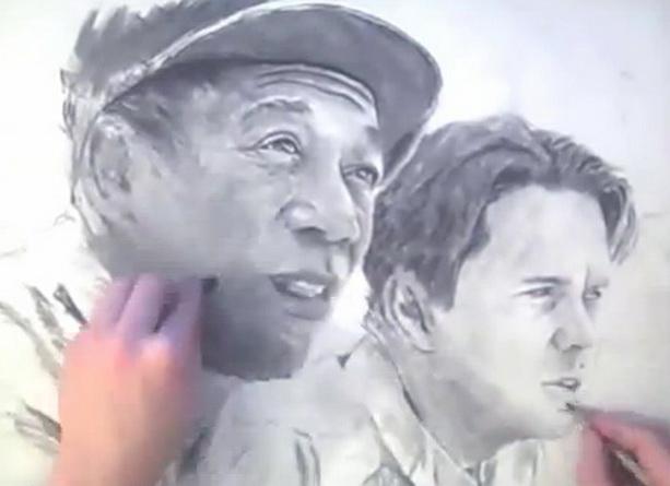 Удивительный китайский художник Сяонань Сун рисует двумя руками одновременно