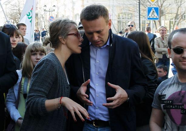 Собчак и Навальный