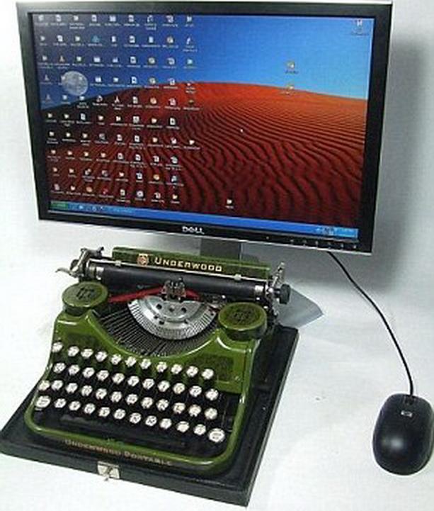 компьютер пишущая машинка