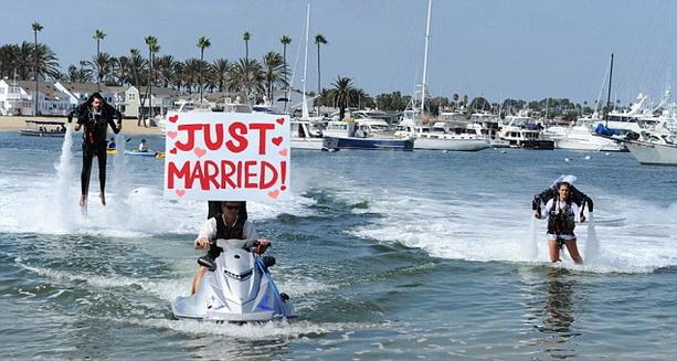 свадьба реактивный ранец