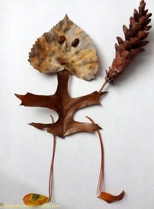поделки из сухих листов